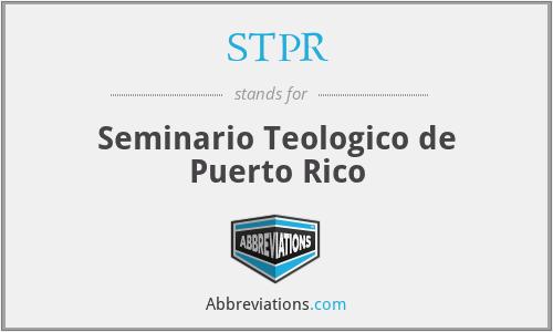 STPR - Seminario Teologico de Puerto Rico