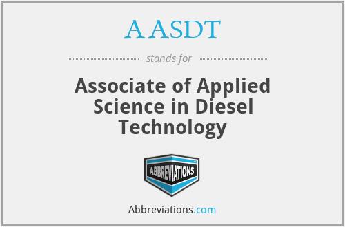 AASDT - Associate of Applied Science in Diesel Technology