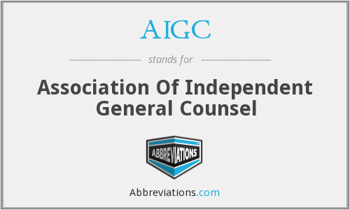 AIGC - Association Of Independent General Counsel