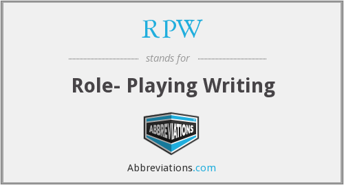 RPW - Role- Playing Writing