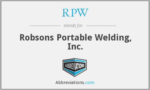 RPW - Robsons Portable Welding, Inc.