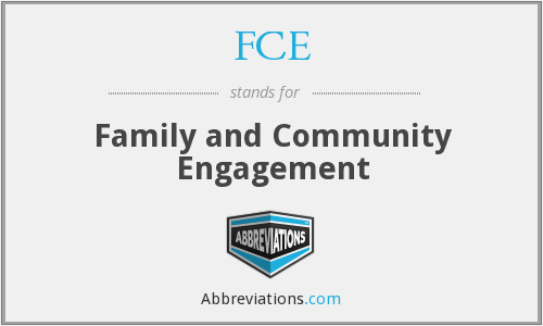 FCE - Family and Community Engagement