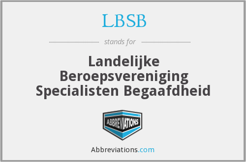 What does LBSB stand for?