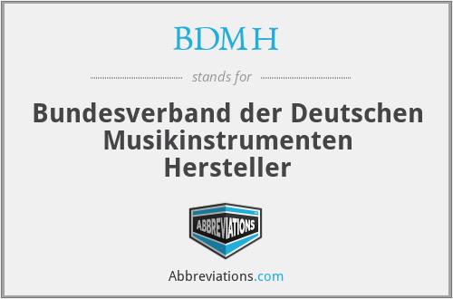 BDMH - Bundesverband der Deutschen Musikinstrumenten Hersteller