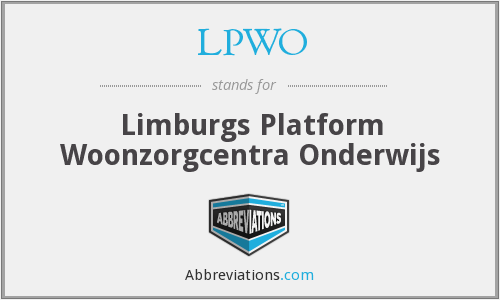 What does LPWO stand for?