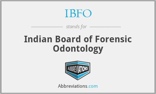 Ibfo Indian Board Of Forensic Odontology