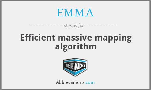 EMMA - Efficient massive mapping algorithm