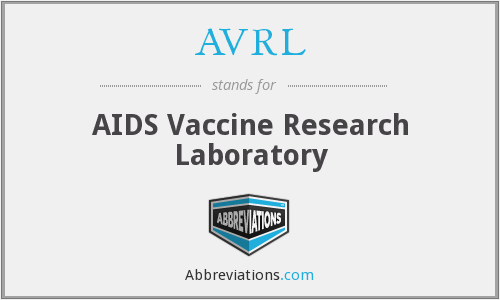 AVRL - AIDS Vaccine Research Laboratory
