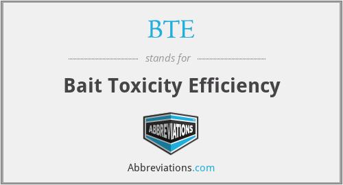 BTE - Bait Toxicity Efficiency