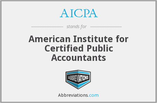 What does AICPA stand for?