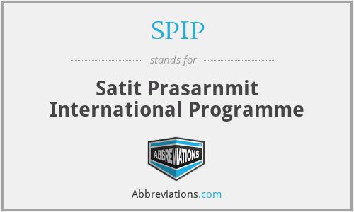 SPIP - Satit Prasarnmit International Programme