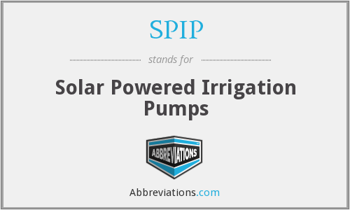 SPIP - Solar Powered Irrigation Pumps