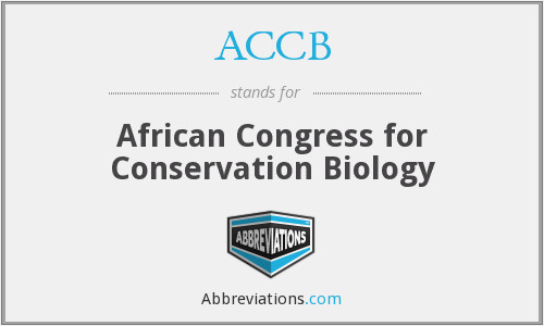 ACCB - African Congress for Conservation Biology