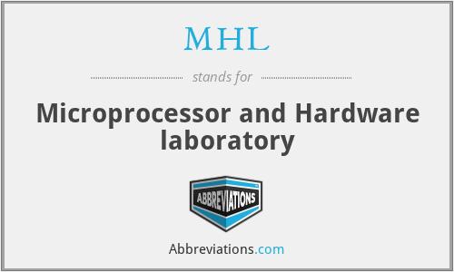 MHL - Microprocessor and Hardware laboratory