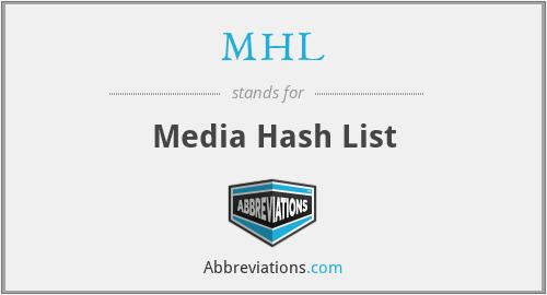 MHL - Media Hash List