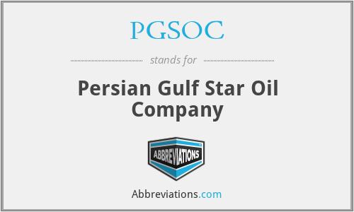 PGSOC - Persian Gulf Star Oil Company