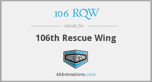 What does 106 RQW stand for?