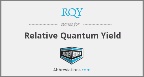RQY - Relative Quantum Yield