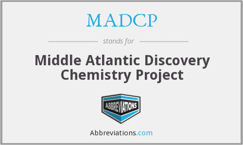 MADCP - Middle Atlantic Discovery Chemistry Project