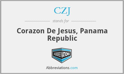 CZJ - Corazon De Jesus, Panama Republic