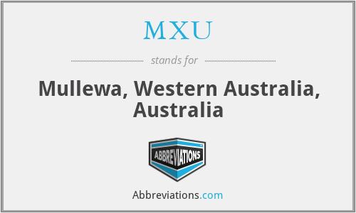 MXU - Mullewa, Western Australia, Australia