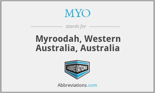 MYO - Myroodah, Western Australia, Australia