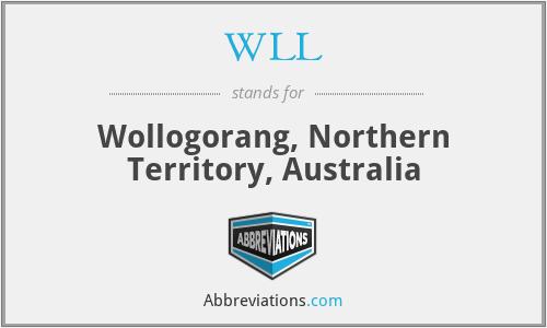 WLL - Wollogorang, Northern Territory, Australia