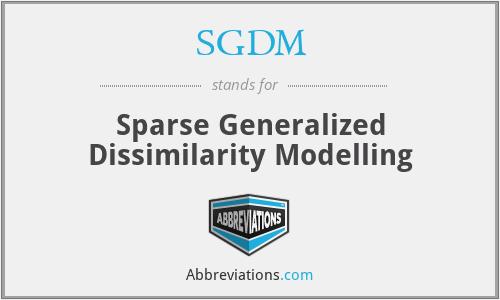 SGDM - Sparse Generalized Dissimilarity Modelling