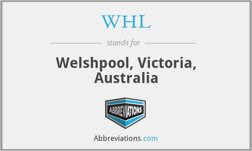 WHL - Welshpool, Victoria, Australia