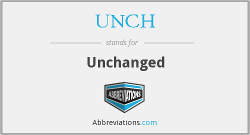 What does UNCH stand for?