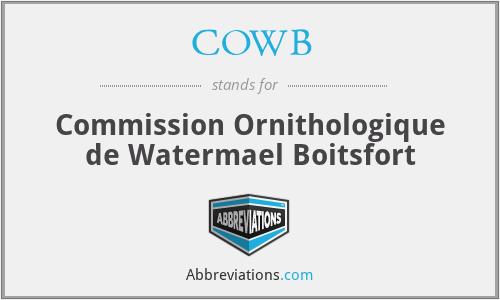COWB - Commission Ornithologique de Watermael Boitsfort
