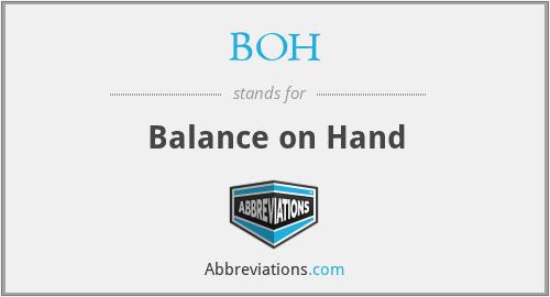 BOH - Balance on Hand
