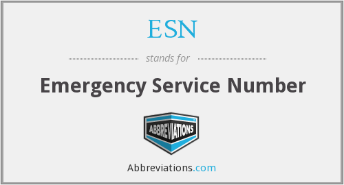 ESN - Emergency Service Number