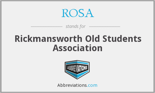 ROSA - Rickmansworth Old Students Association