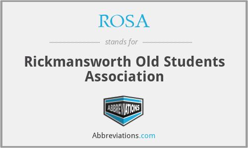 ROSA - Rickmansworth Old Students Association