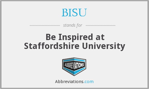 What does BISU stand for?