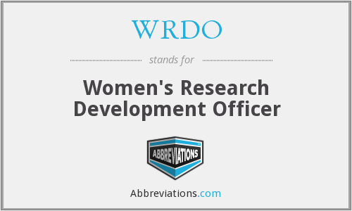 WRDO - Women's Research Development Officer