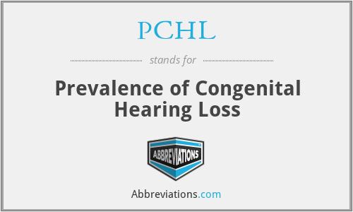 PCHL - Prevalence of Congenital Hearing Loss