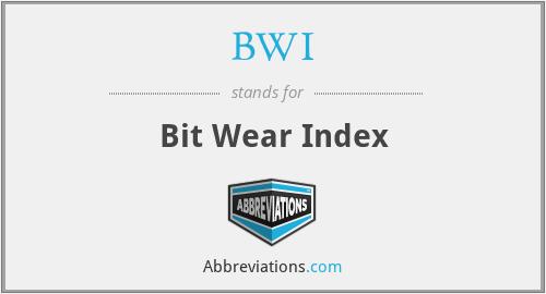 BWI - Bit Wear Index