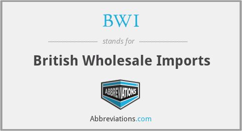 BWI - British Wholesale Imports