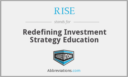 RISE - Redefining Investment Strategy Education