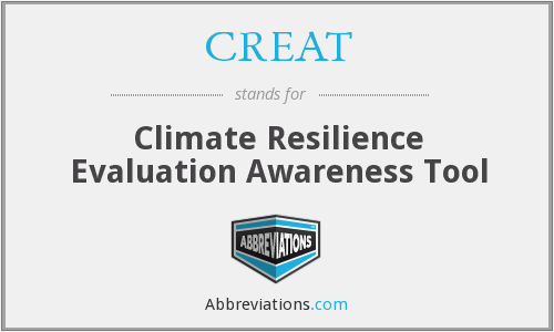 CREAT - Climate Resilience Evaluation Awareness Tool