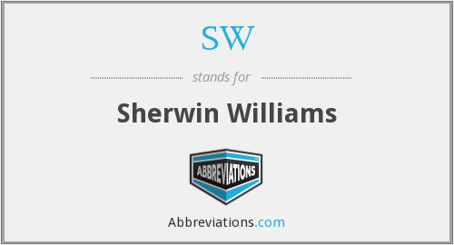 SW - Sherwin Williams