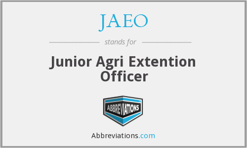What does JAEO stand for?