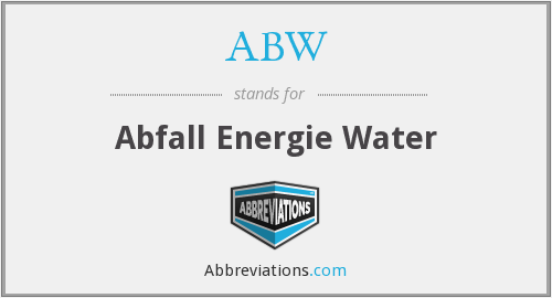 ABW - Abfall Energie Water