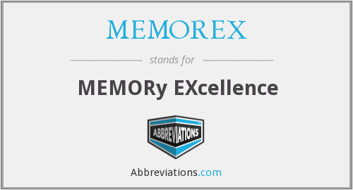 What does MEMOREX stand for?