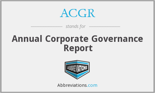 ACGR - Annual Corporate Governance Report