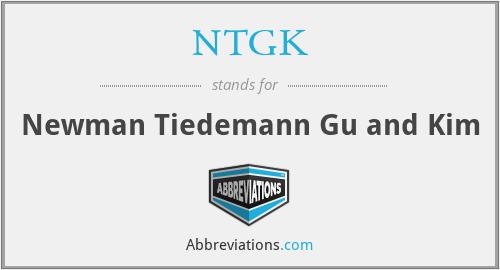 NTGK - Newman Tiedemann Gu and Kim