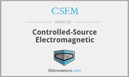 CSEM - Controlled-Source Electromagnetic