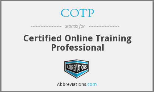COTP - Certified Online Training Professional